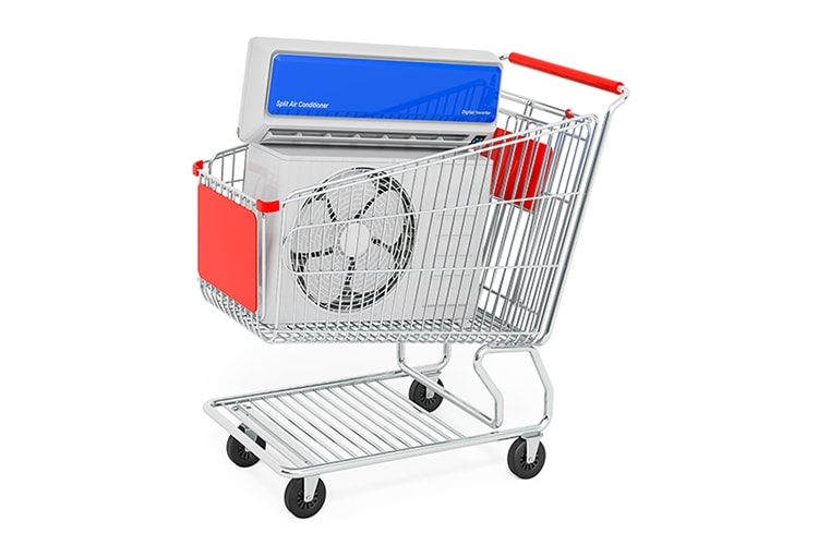 AC unit in shopping cart